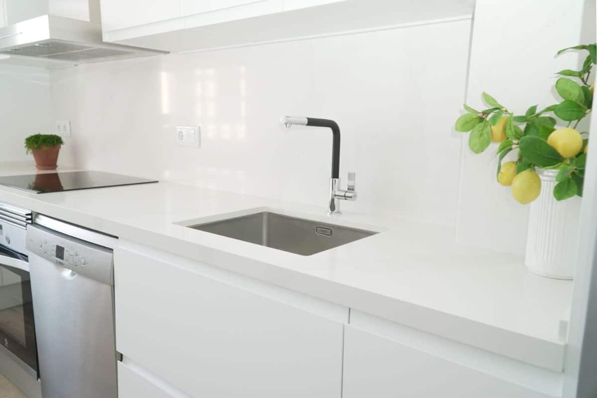 cocina marmol silestone completo